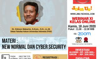 JOIN NOW - WEBINAR 11 KELAS ONLINE - NEW NORMAL DAN CYBER SECURITY