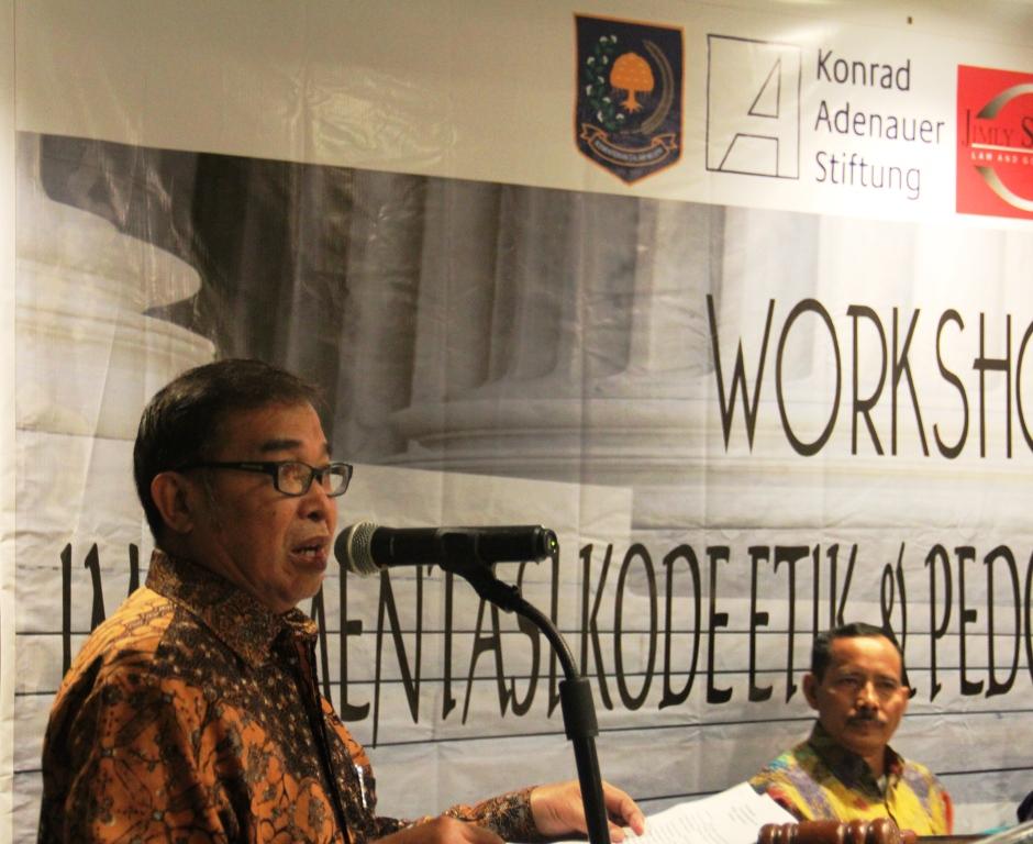 Workshop Kode Etik dan Pedoman Perilaku Hakim, Sumatera Barat (Padang, 24-26 Januari 2018)